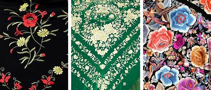 mantones embroidery