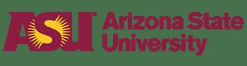 Arizona State University logo.