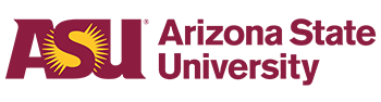 Arizona State University logo.