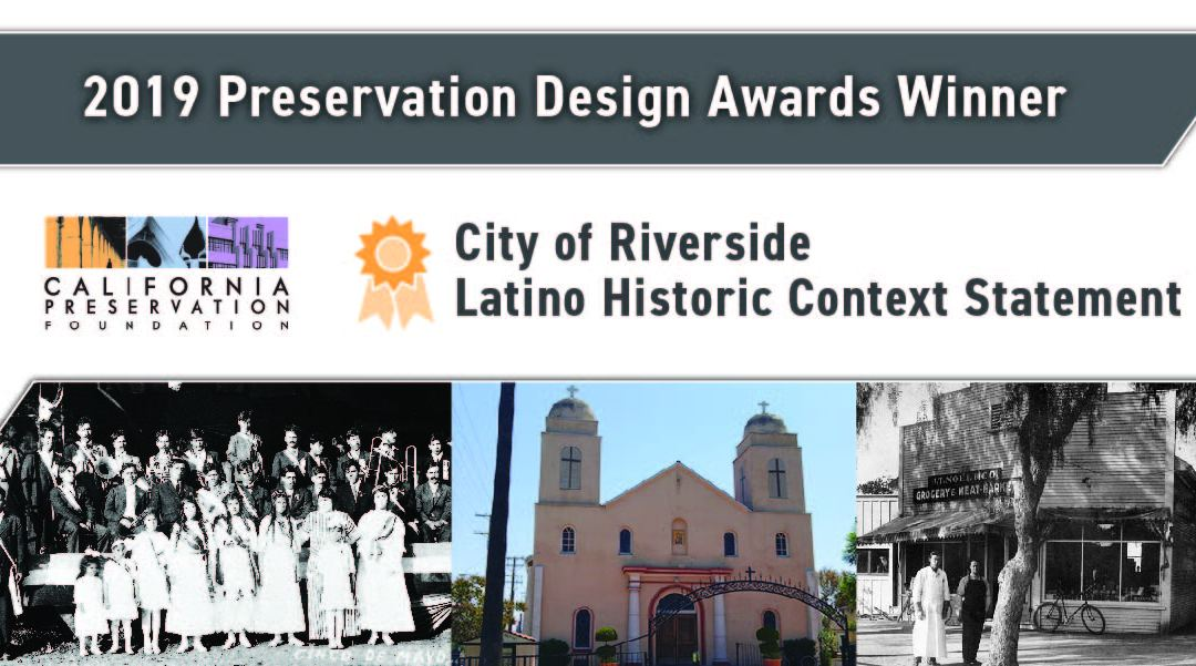 Rincon's Riverside Latino Historic Context Statement Receives Award from California Preservation Foundation