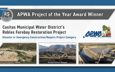 Robles Forebay Restoration Project Wins APWA Project of the Year Award