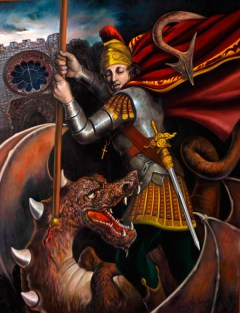 Imágenes de San Jorge a caballo