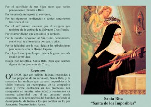 Estampa de Santa Rita de Casia