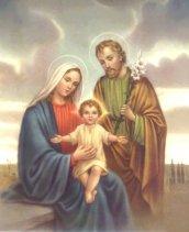 José de Nazaret, junto a Jesús y María