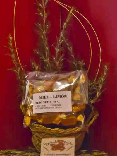 Caramelos de miel y limón