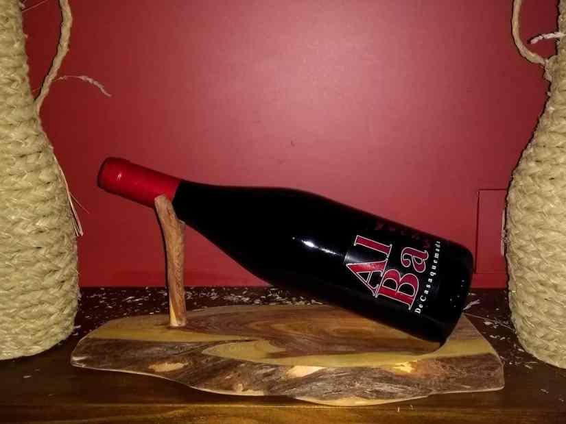 Soporte botella de vino