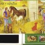Libro de caballos y ponis con imanes