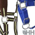 Cabezada cuadra HH nylon doble acolchada con forro polar y mosquetón
