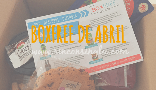 BoxFree sin gluten de abril