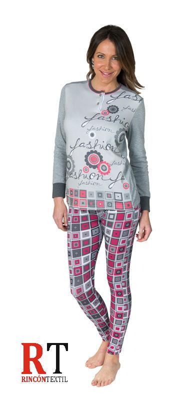 1e3b429e45 PIJAMA INTERLOCK VALERIA - BH Textil - Rincón Textil