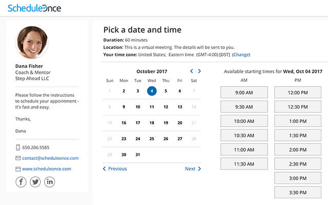 ScheduleOnce sales enablement tool
