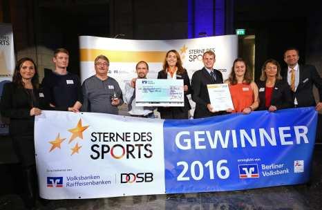 Verleihung Sterne des Sport in Silber am 16.11.2016 in Berlin: Platz 4.: VfL Tegel 1891 e.V.
