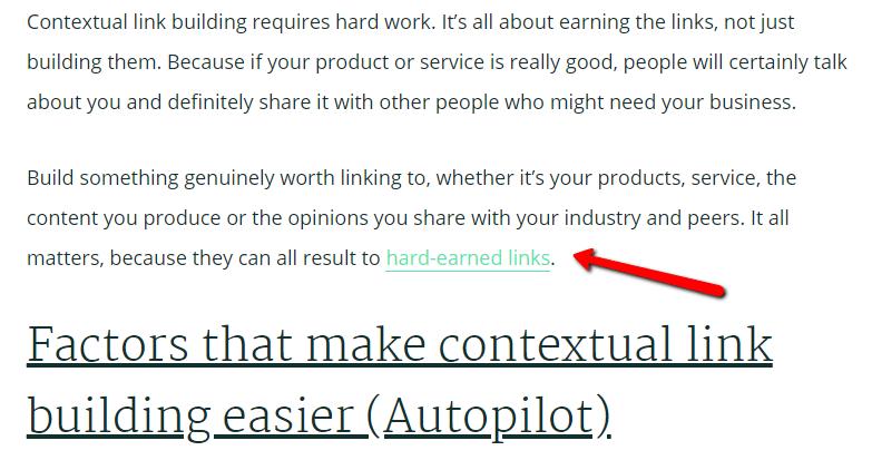 反向連結 contextual link 例子