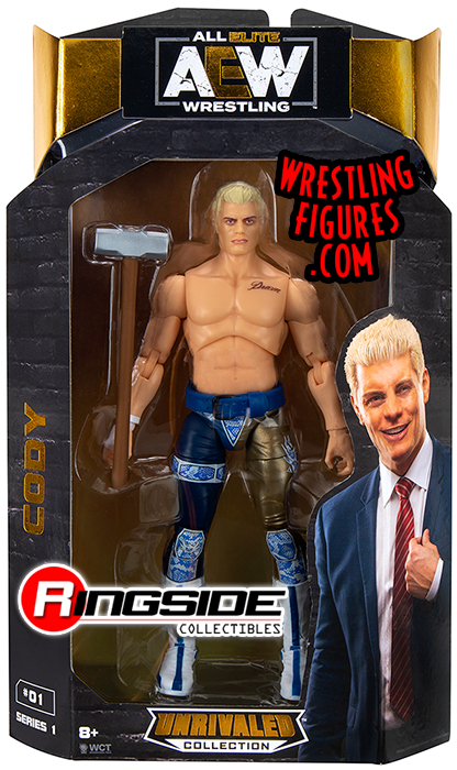 Cody Rhodes Aew Unrivaled 1 Toy Wrestling Action Figure By Wicked Cool Toys
