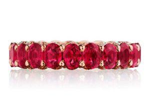 oval rubies set кольцо с рубином