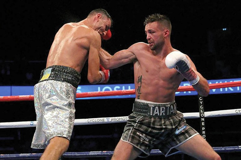 Viktor Postol vs. Josh Taylor (right). Photo by Shabba Shafiq