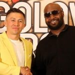 Former unified middleweight titlist Gennadiy Golovkin (left) and trainer Johnathon Banks. Photo credit: DAZN/GGG Promotions