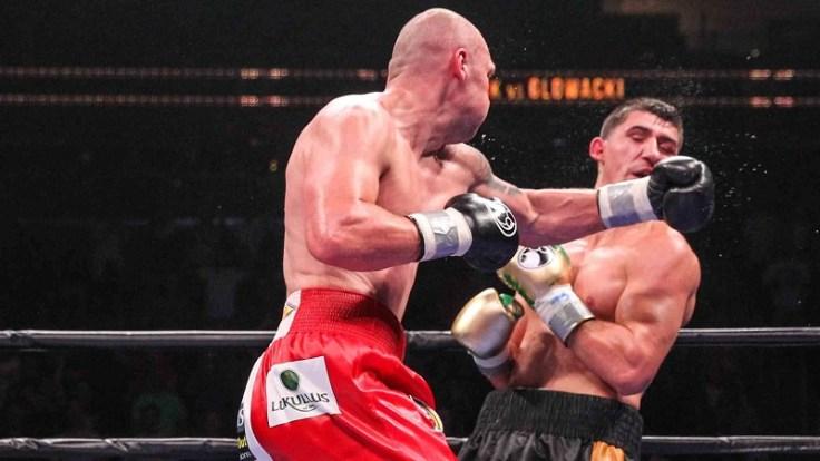 Krzysztof Glowacki (left) vs. Marco Huck. Photo courtesy of Premier Boxing Champions