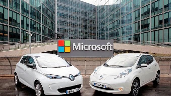 Renault-Nissan e Microsoft sviluppano l'auto connessa del futuro