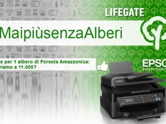 Epson aderisce al progetto Foreste in Piedi di LifeGate