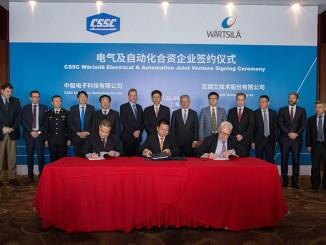 CSSC e Wärtsilä, una nuova joint venture Electrical & Automation