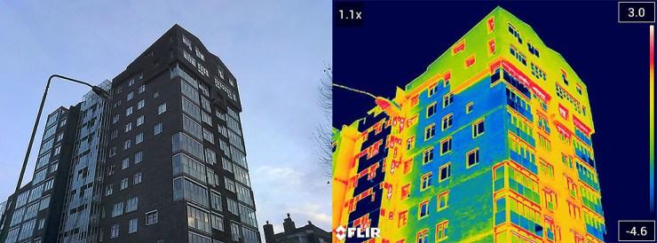 Ispezioni edili, i vantaggi delle termocamere FLIR