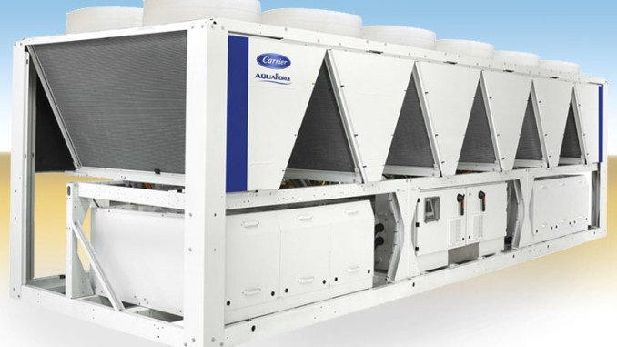 Carrier AquaForce 30XB, refrigeratori a vite fino a 1.700 kW