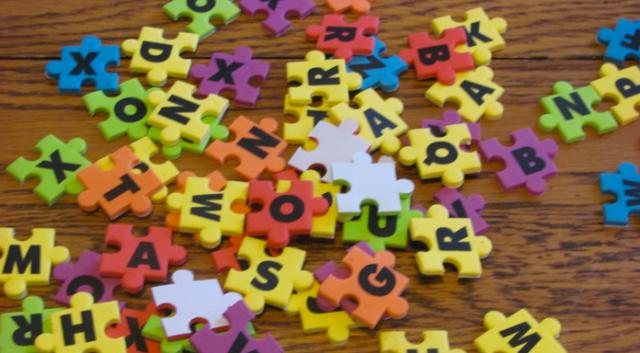 Letter puzzle - BLog 27 Pre-K