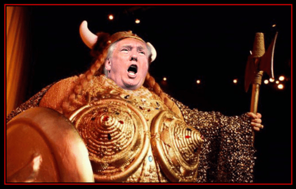 Pic Donald Trump as Fat Lady PIC