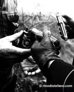 Zanfretta's gun with exploded cartridge-cases