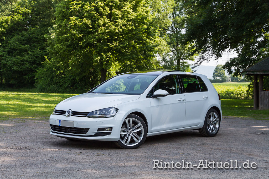 sieben richtige der vw golf 7 2 0 tdi dsg highline. Black Bedroom Furniture Sets. Home Design Ideas