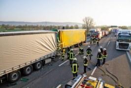 Rettungsgasse Fehlanzeige: LKW-Unfall auf A2 mit zwei Verletzten