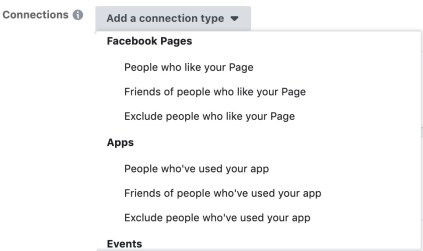 Connections in Facebook