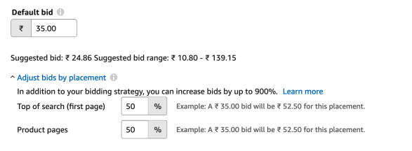 Amazon Bid Adjustments