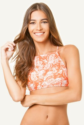 Dana High Neck Halter Top
