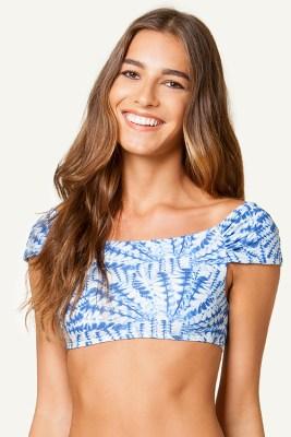 La Jolla Blue Drape Tshirt Top