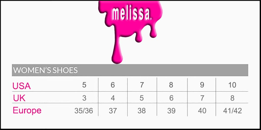 Melissa Shoes Size Guide