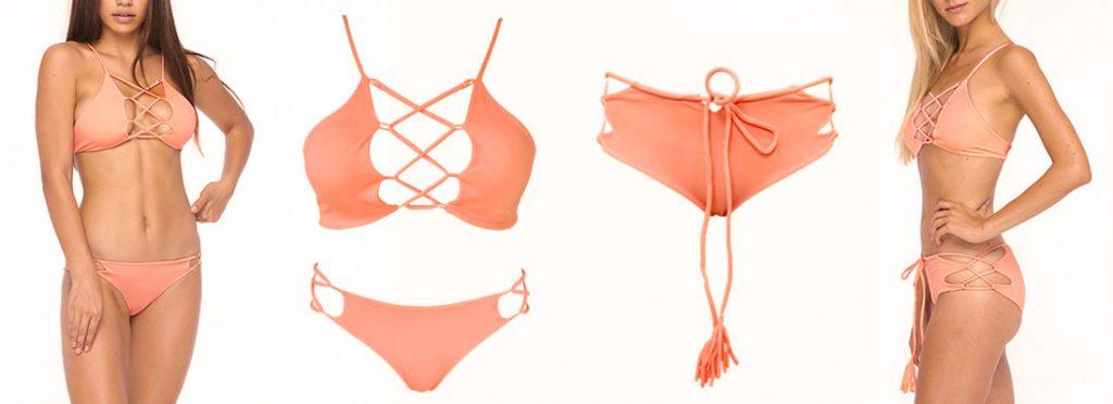 Grapefruit Hapa Sasa Kylie Mix and Match Bikini