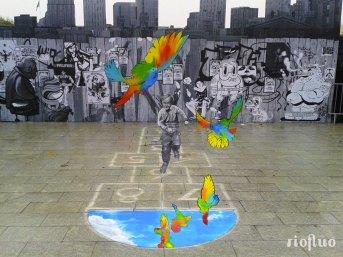 Les meilleurs anamorphoses figuratives graphiques, immenses. Créer l'étonnement et l'attractivité. Décoration hypnotisante, photos renversantes ! anamorphose,riofluo, live painting, street-art, france, graffiti, art urbain, peinture, performance, ile de france, artistique, artiste, graffeur