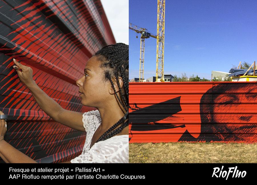 Fresque et atelier-projet «Palliss'Art»-AAP-remporté par l'artiste-Charlotte-Coupures
