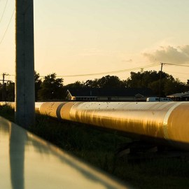 Photo of the Keystone Pipeline by Ray Bodden for the Rio Grande Sierra Club website