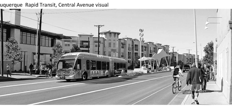 Albuquerque rapid transit for Sierra Club article on Healthy Communities initiative