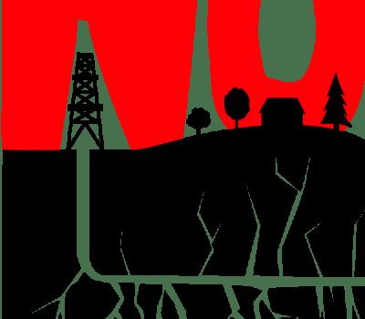 no fracking logo