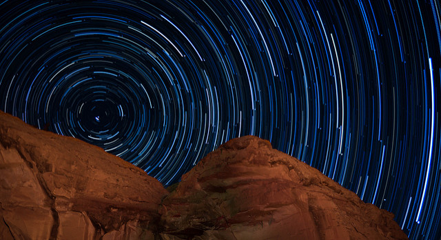 Star Trails over Chaco Culture National Heritage Park