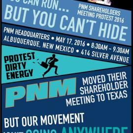 Protest PNM Shareholder meeting