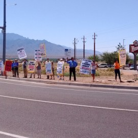 Zinke meets privately in New Mexico while public is locked outside