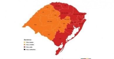 Metade das regiões fica em vermelho no mapa preliminar da 9ª rodada do Distanciamento Controlado