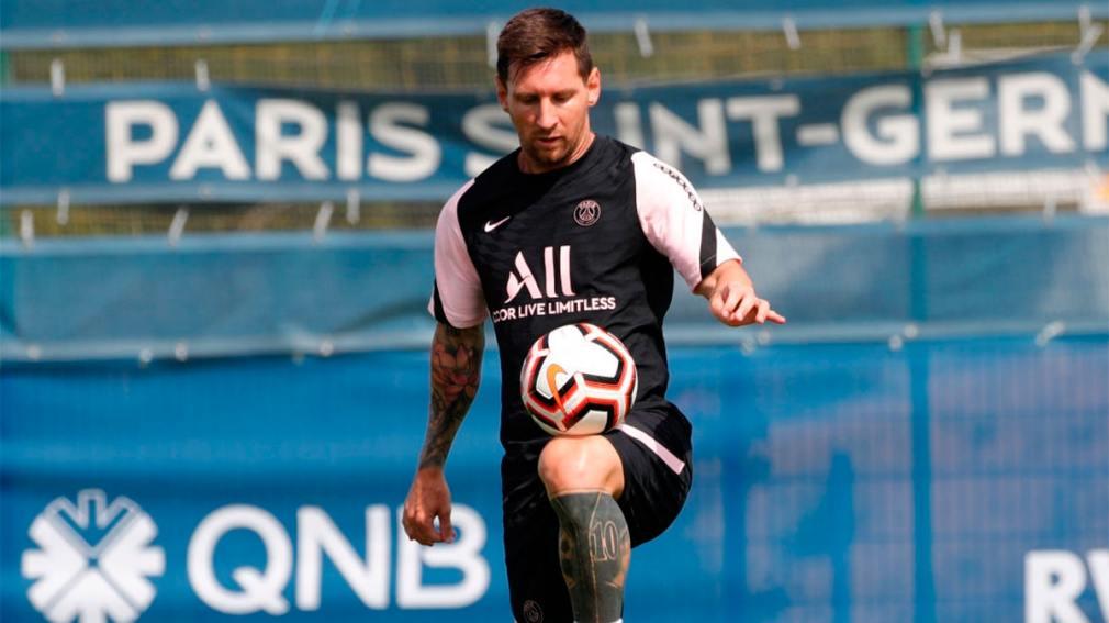 Messi participó de un entrenamiento liviano con el PSG