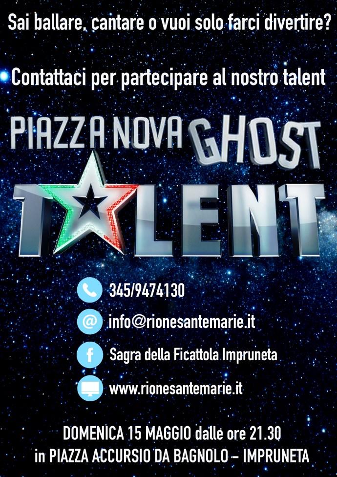 volantino Piazza Nova Ghost Talent