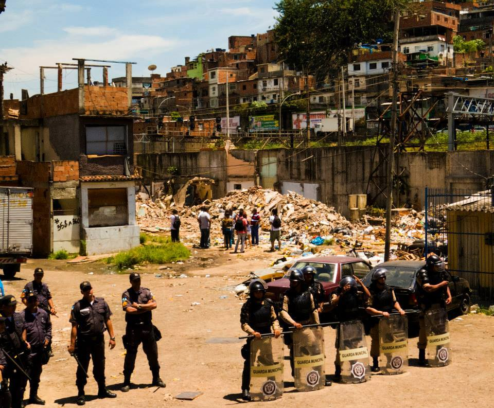 Shock Troops at Favela do Metrô on Tuesday. Photo by Francisco Chaves
